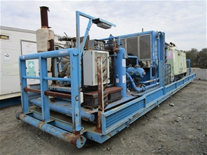 Sullair Skid Mounted Compressor with Boo