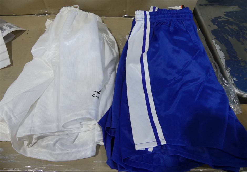 10 x Cappe Sports Shirts, Blue & White (Size Unknown)