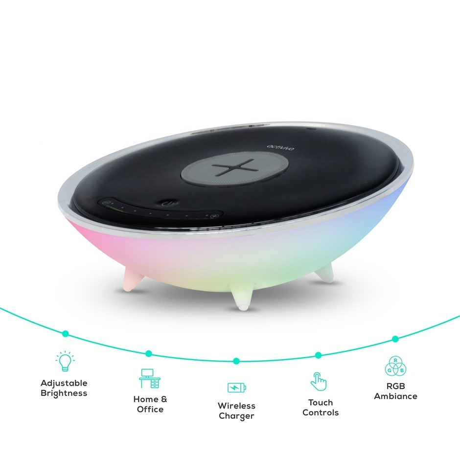 activiva Wireless Charging Stand with RGB Colour Changing Base