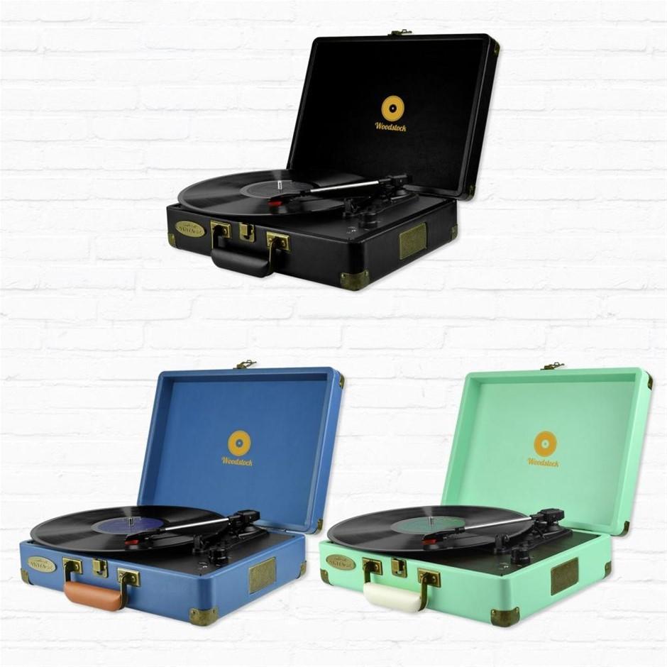 mbeat MB-TR89TBL Woodstock Tiffany Blue Retro turntable player