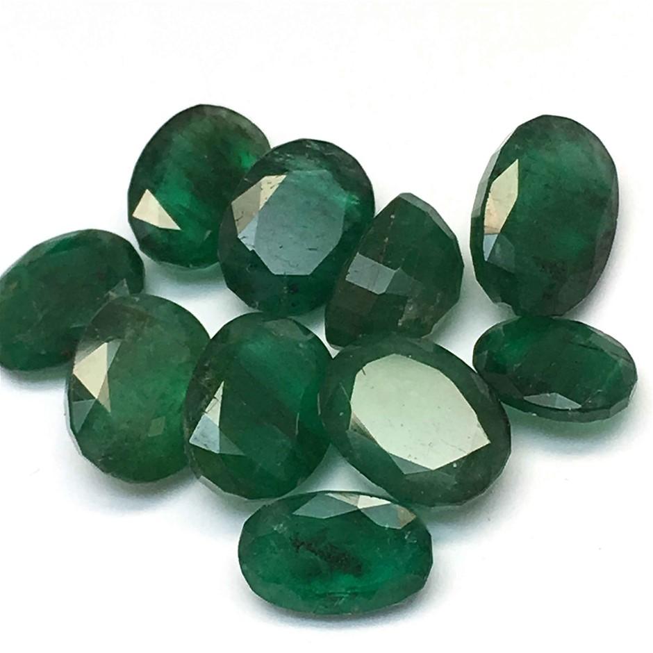 Ten Loose Emerald 9.65ct in Total