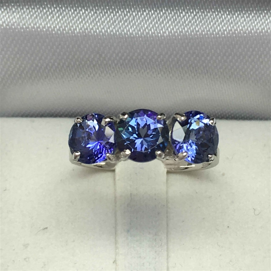 18ct White Gold, 3.10ct Tanzanite Ring