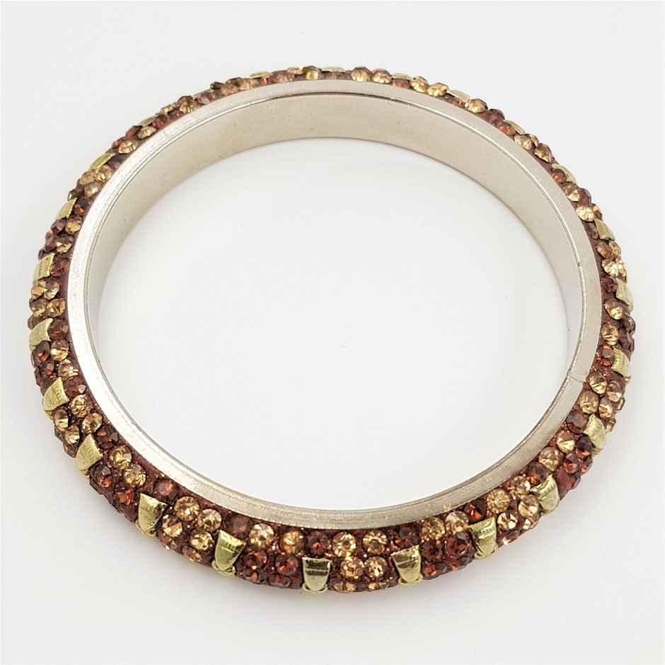 Assorted Lot of Multi-coloured Crystal Indian Style Bangles