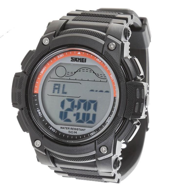 SKMEI Men`s Multi Function Digital Wrist Watch, PU band,53mm Dial Width, Wa