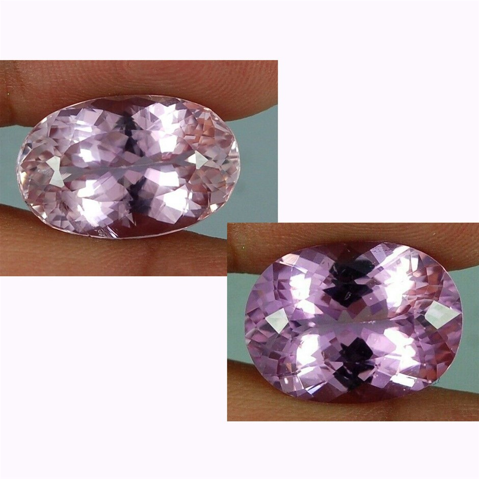 29.35ct (2pcs) Deep Pink Colour Kunzite Afghanistan Gemstone