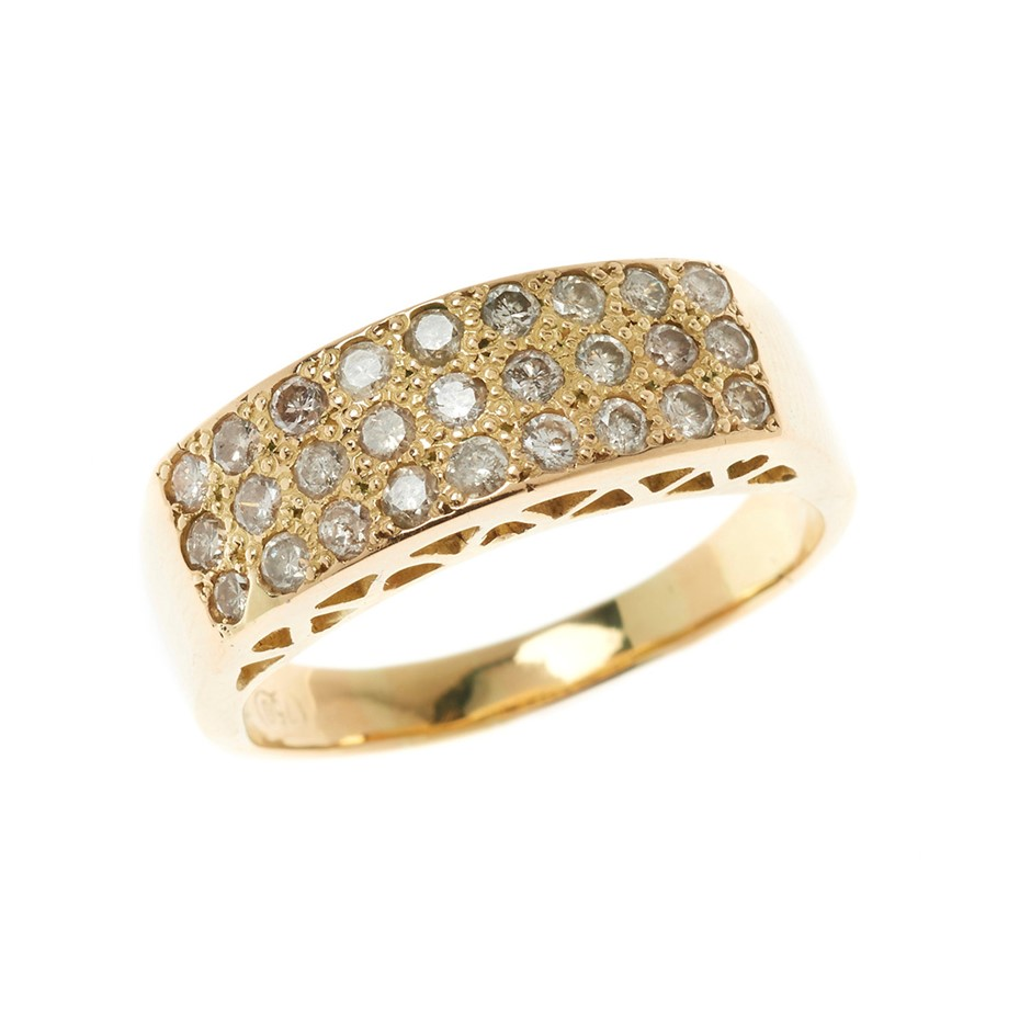 18ct Yellow Gold, 1.08ct Diamond Ring