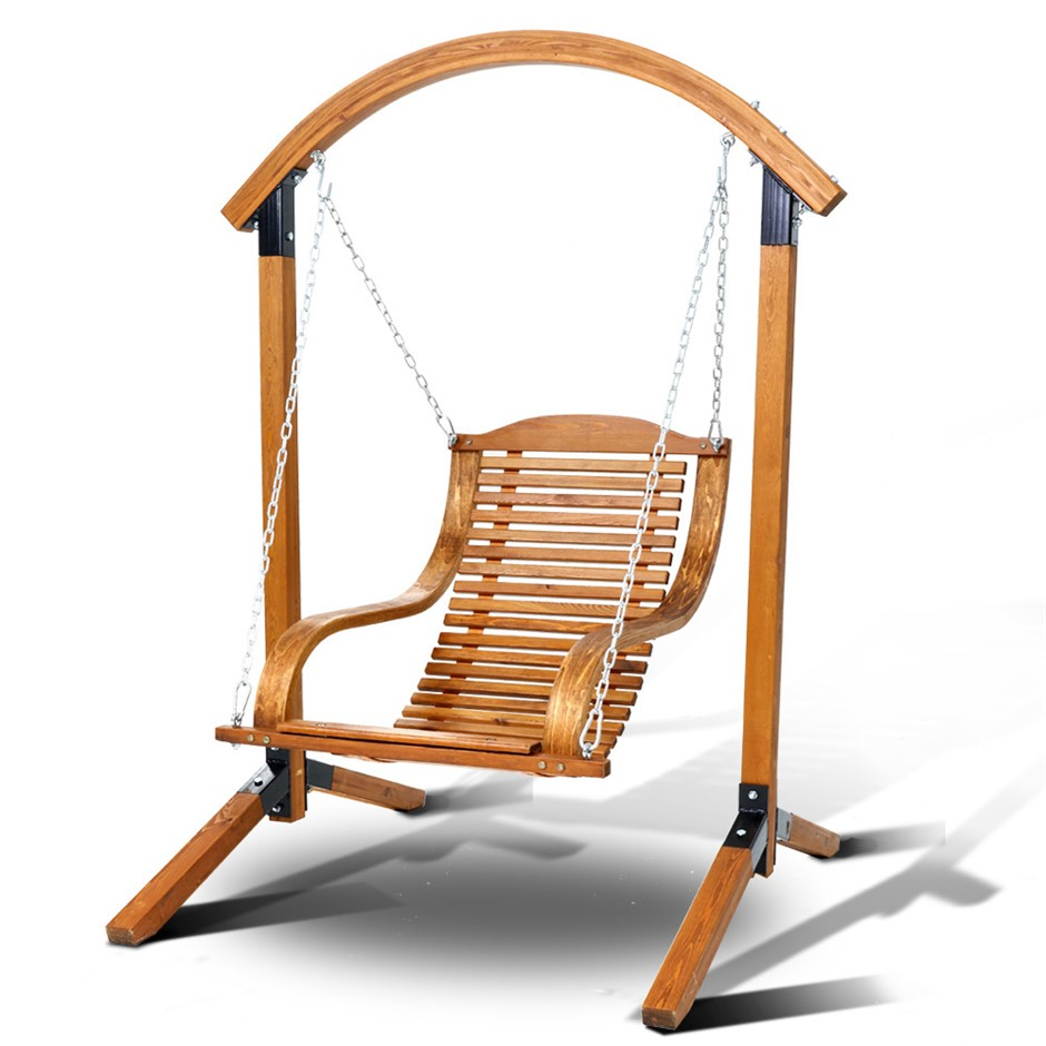 Gardeon Outdoor Furniture Timber Hammock Chair Wooden Patio Swing Chairs