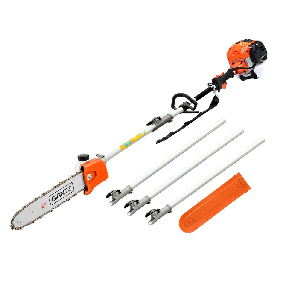 Giantz 65CC Petrol Pole Chainsaw Chain Saw Brush Cutter Brush cutter Tree