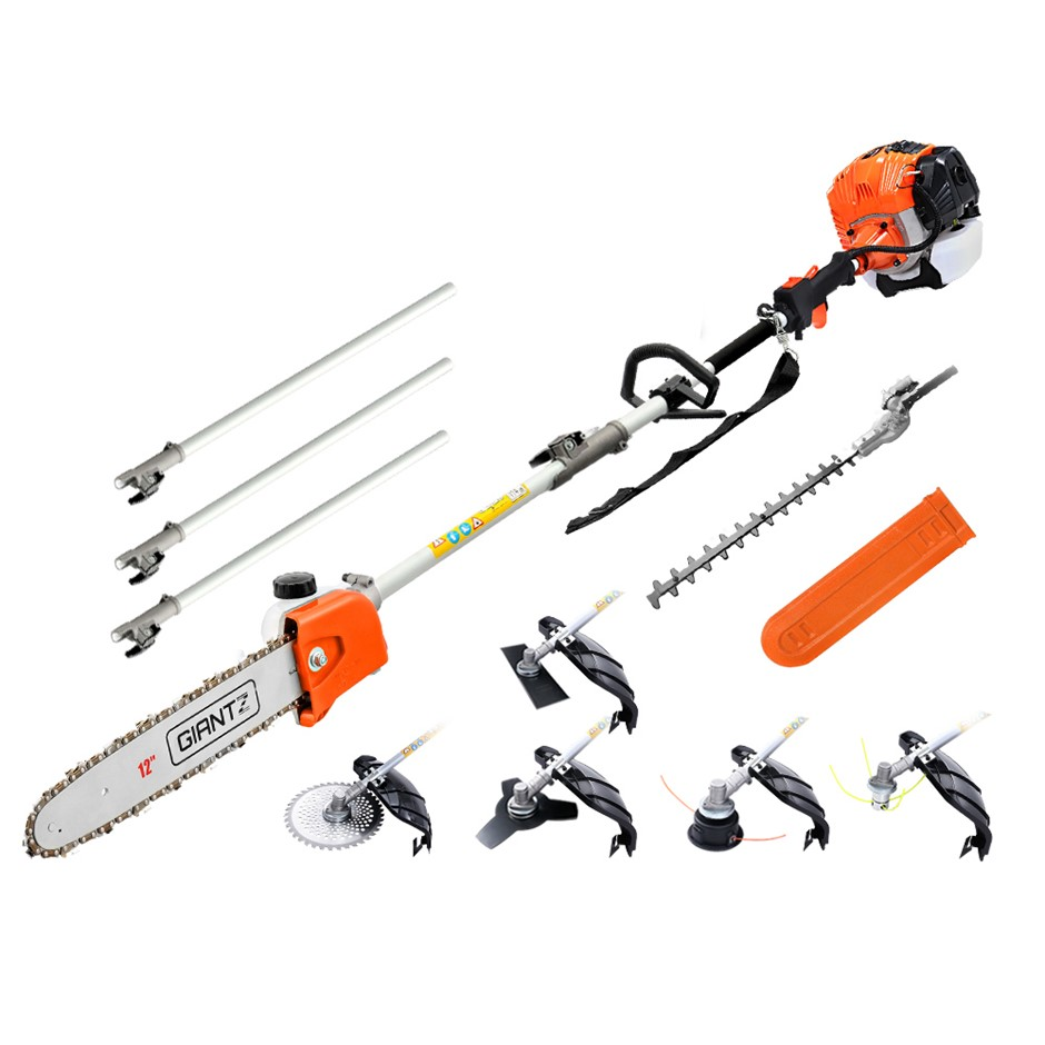 Giantz 65CC Pole Chainsaw Brush Cutter Whipper Snipper Hedge Trimmer Pruner