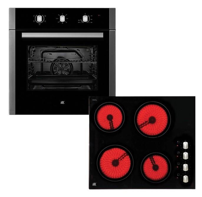 Arc 60cm Electric Oven & 60cm Ceramic Cooktop Pack ACPC2