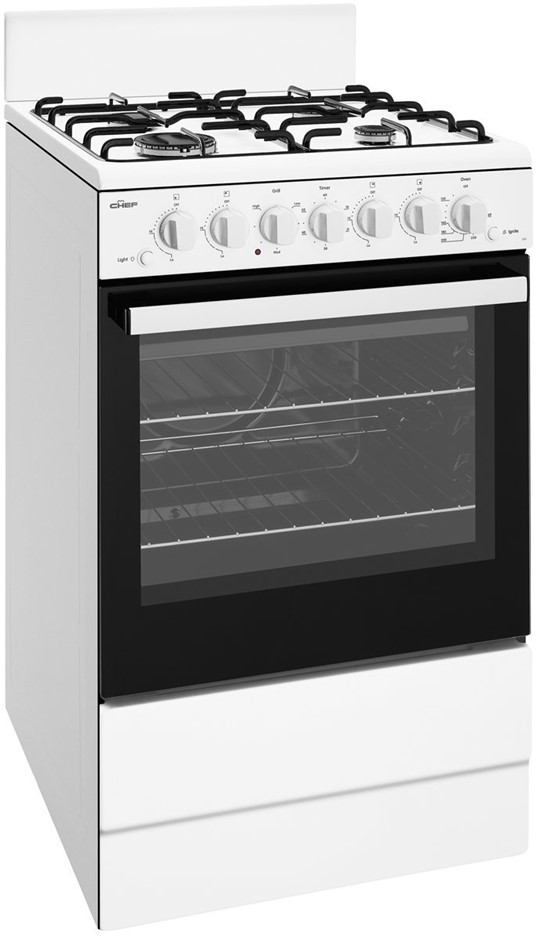 Chef CFG504SBNG 54cm Freestanding Natural Gas Oven/Stove