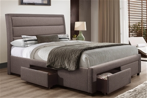 Storage Bed Frame Queen Upholstery Fabri