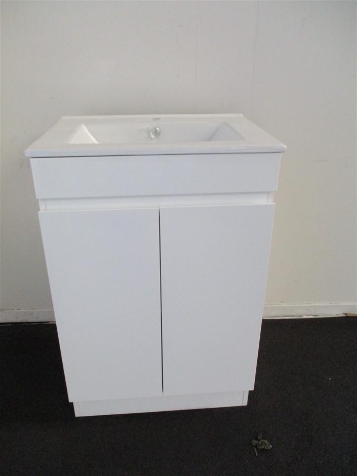 Qty 4 x Ostar Bathroom Vanity Cabinet with Sink