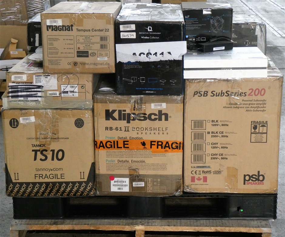 Pallet of Assorted Retail Return - Audio, TV & Home