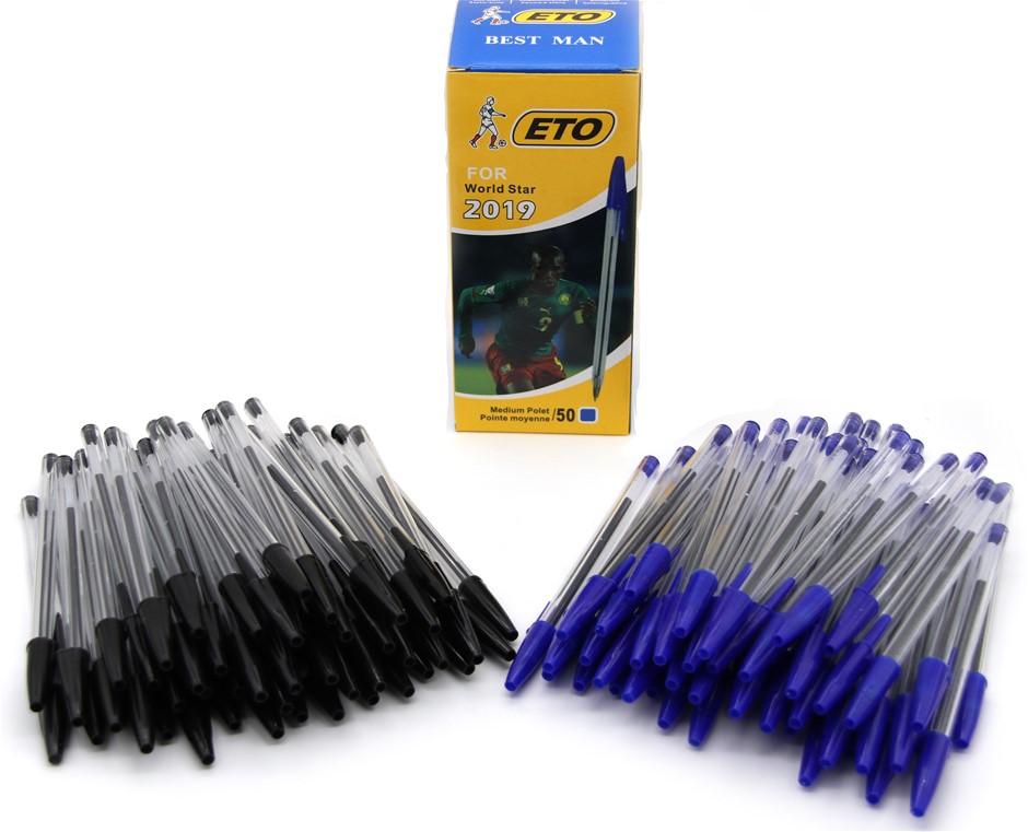 100 Black & 50 Blue Medium Ballpoint Pens