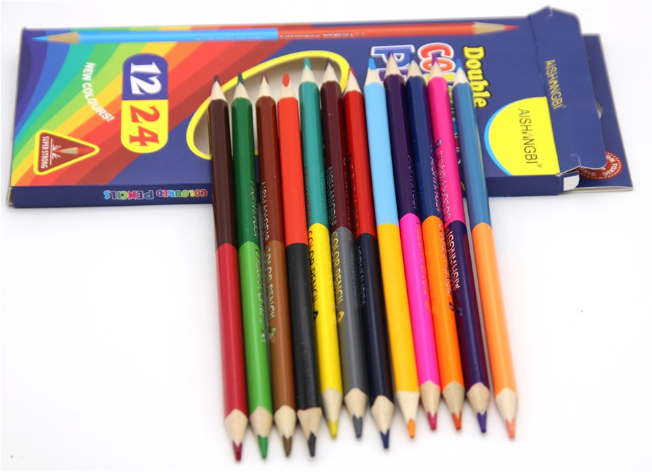 72 Double sided Colour pencils, 24 assorted colours