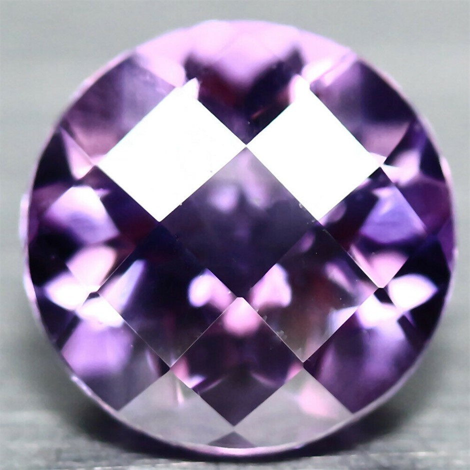 1.86 ct. Round with Checker Board Table Purple Pink Amethyst