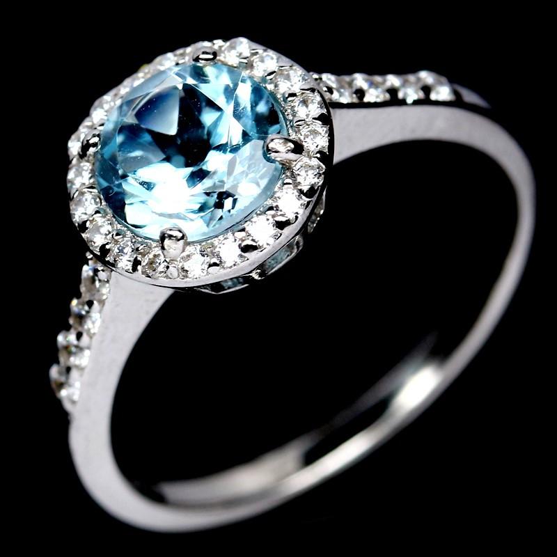 Delightful Genuine Sky Blue Ring