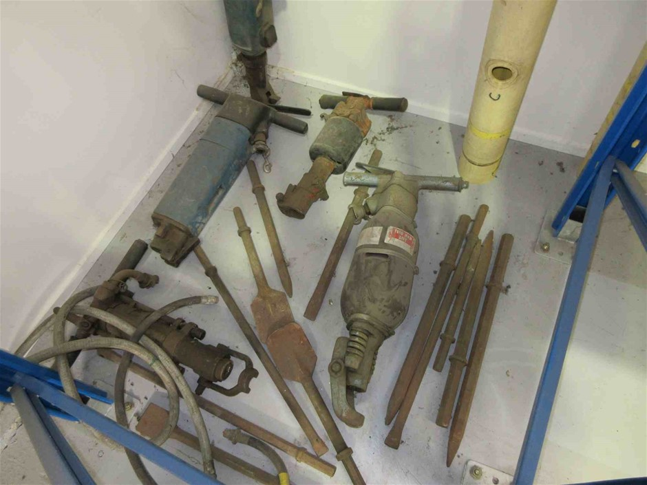 6 x Air Operated Jack Hammers