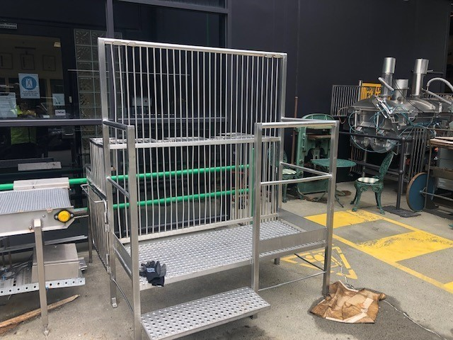 Stainless steel machine guard used