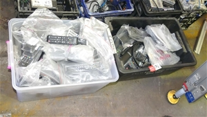 Qty 2 x Boxes of assorted TV Remotes