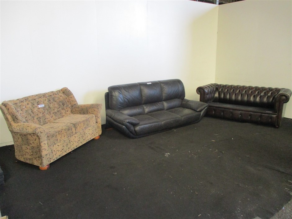 Qty 3 x Assorted Lounge Sofas