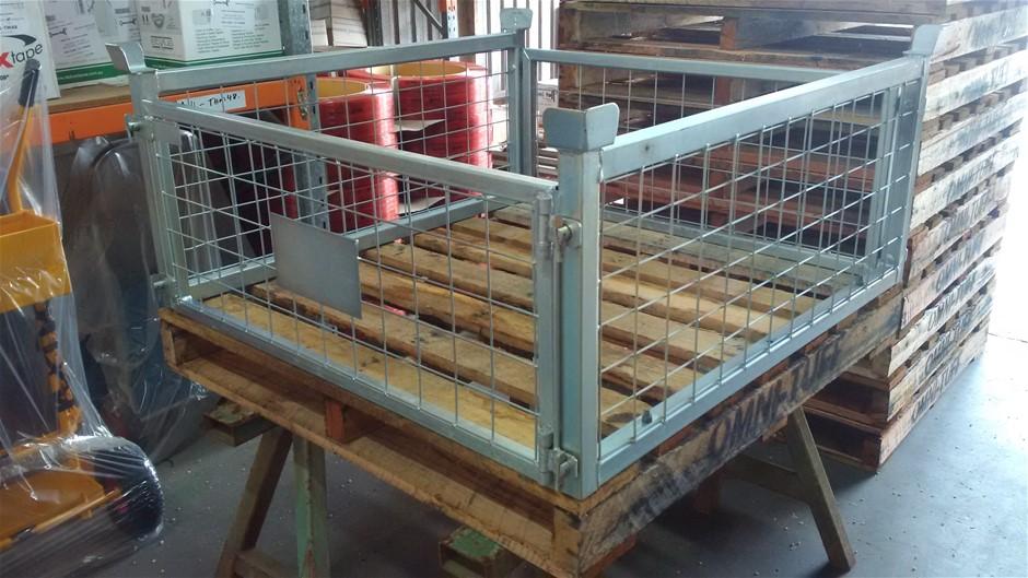 Pallet Cage Steel 300mm w/ R/Gates - Front & Back