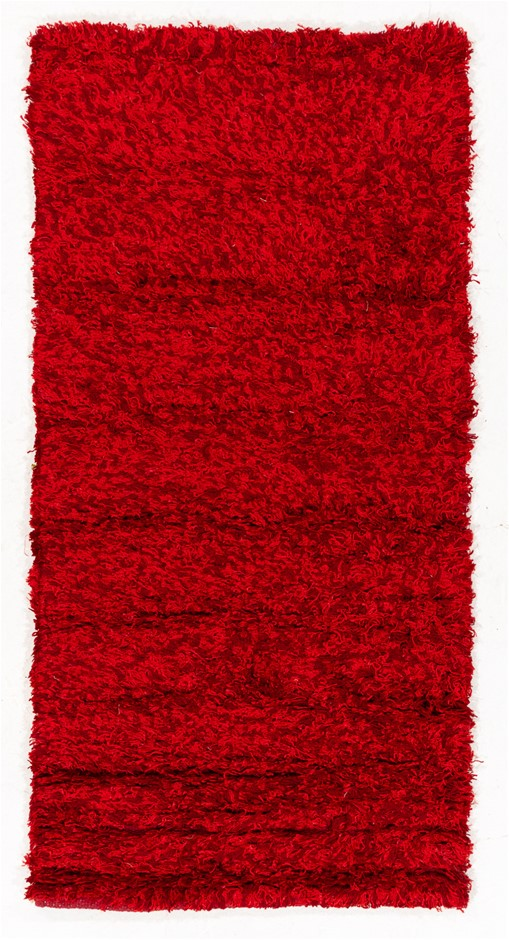 Pit Loomed Hand Knotted Shaggy Floor Rug Size (cm): 60 x 120