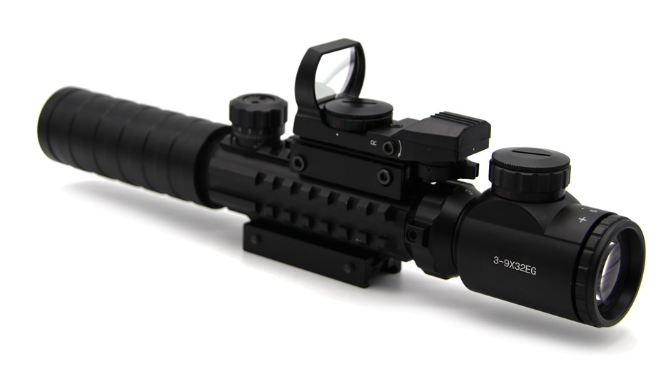 Tactical 3-9×32 Riflescope Hunting Red Green Dot Sight