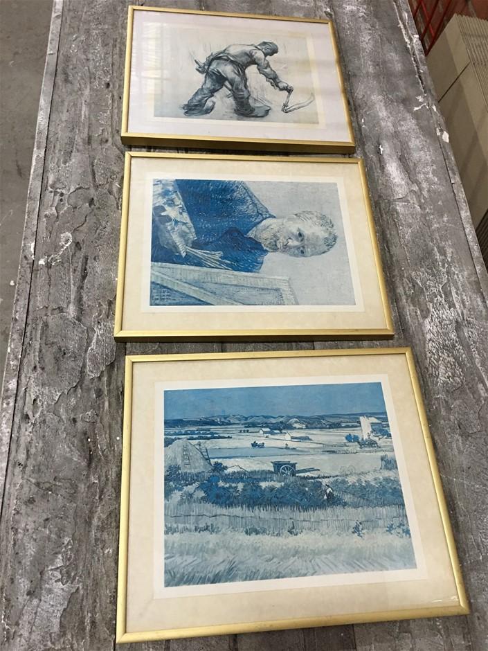 3 x Van Gogh Picture Frames