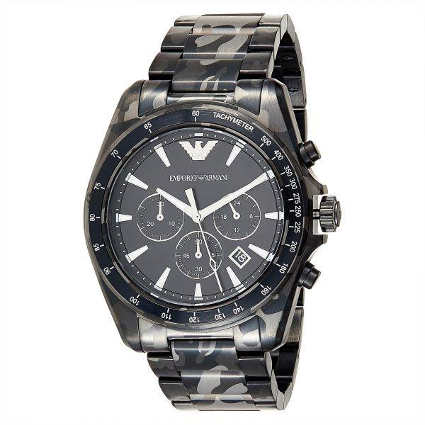Dynamic new Emporio Armani Sigma Camo men's watch.