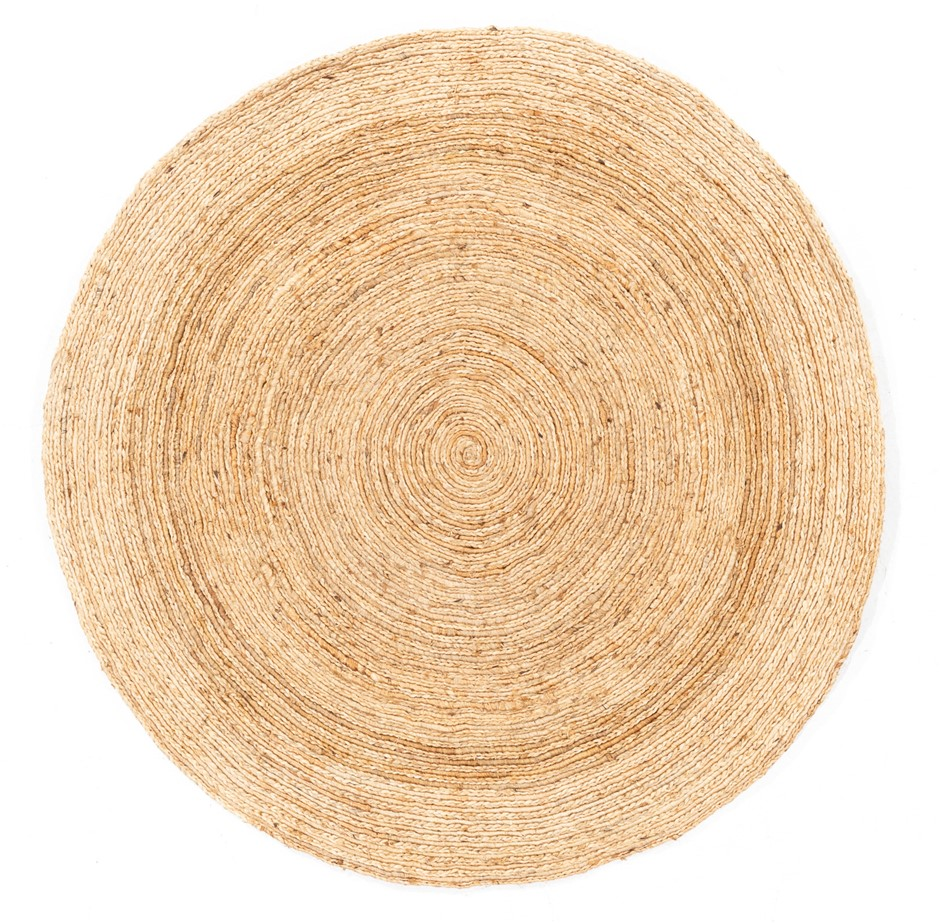 Hand Braided Pure Jute Natural Fibre Circular Rug Size (cm) : 150 x 150
