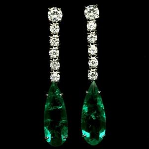 Forest Green Doublet Emerald Earrings.