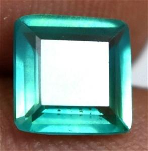 2.15 ct. Square Emerald Cut Blue Green S