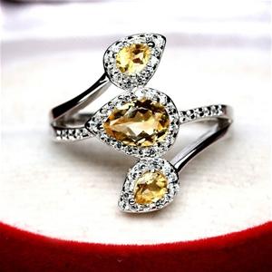 Devine Yellow Citrine Ring. Size 'O'