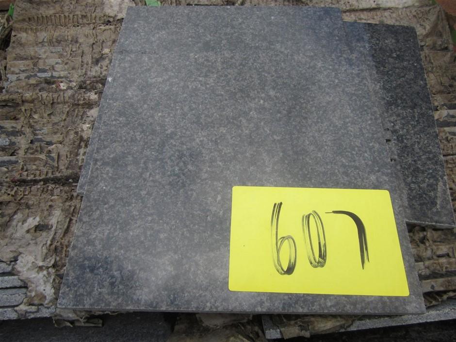 Stillage of approximately 180 Polished Granite Tiles