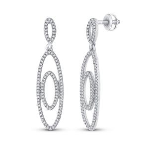 9ct White Gold, 0.31ct Diamond Earring