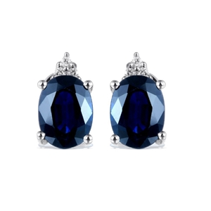 9ct White Gold, 3.19ct Blue Sapphire and