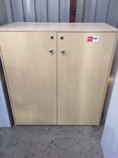 Beach Laminate Storage Cupboard - Fixed Shelving