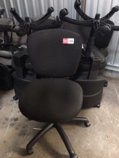 Black Fabric Office Chairs - All Of The Same Design