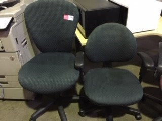 Green Office Chairs One With Arms (Not The Same)