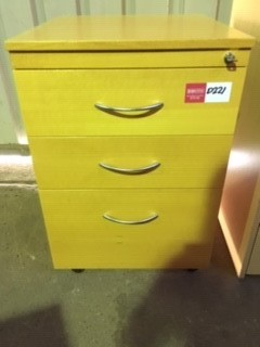 Mustard Coloured Wooden Under Desk Drawers