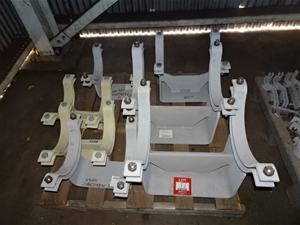 A Quantity of Elevated Pipe Clamps, stee
