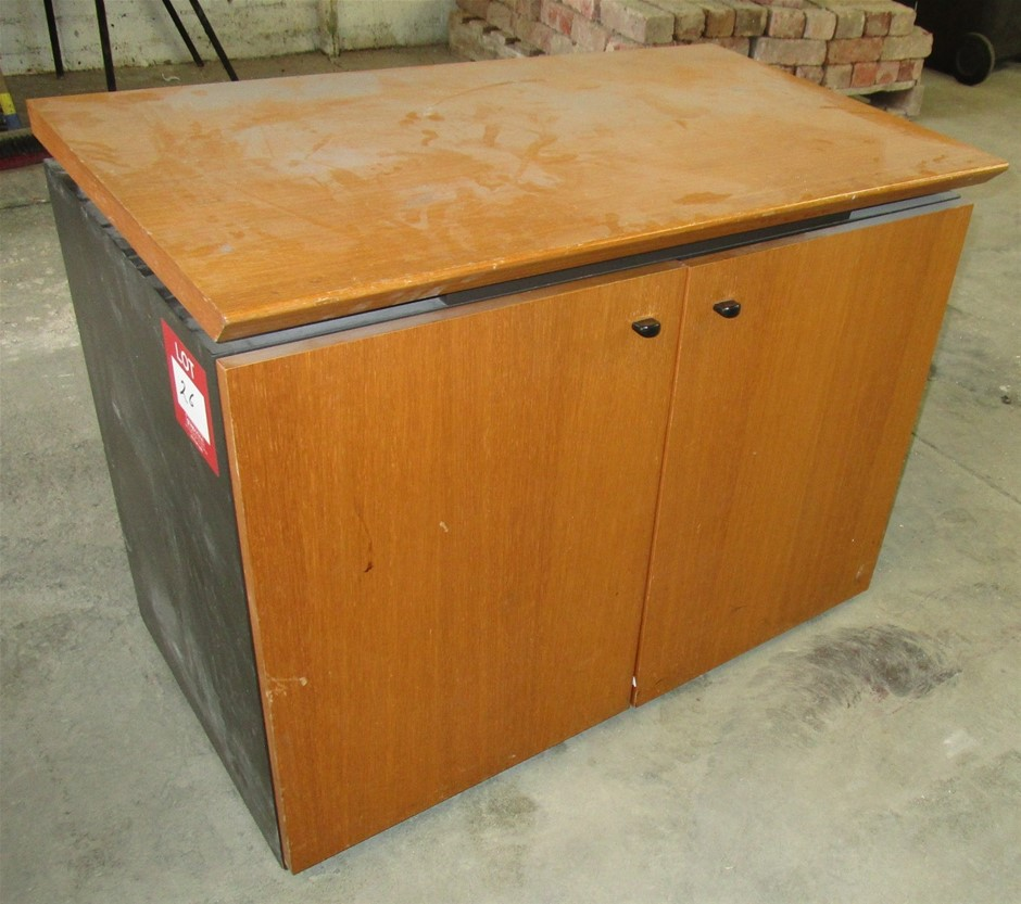 Timber 2x Door Office Cabinet