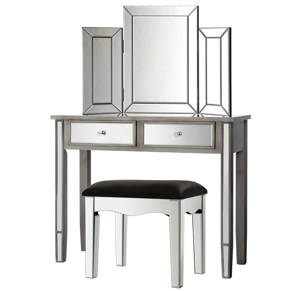 Artiss Mirrored Furniture Dressing Table Mirror Stool Chest of Drawers