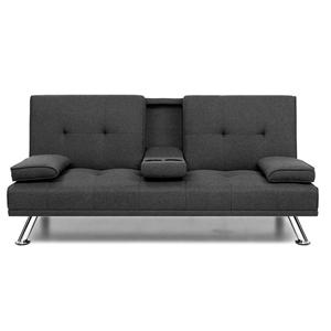 Artiss Linen Fabric 3 Seater Sofa Bed Re