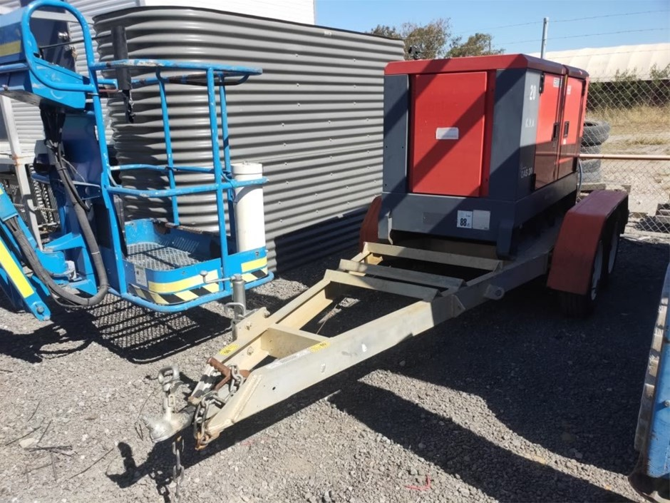 2008 Atlas Copco QAS20 Trailer-Mounted Generator