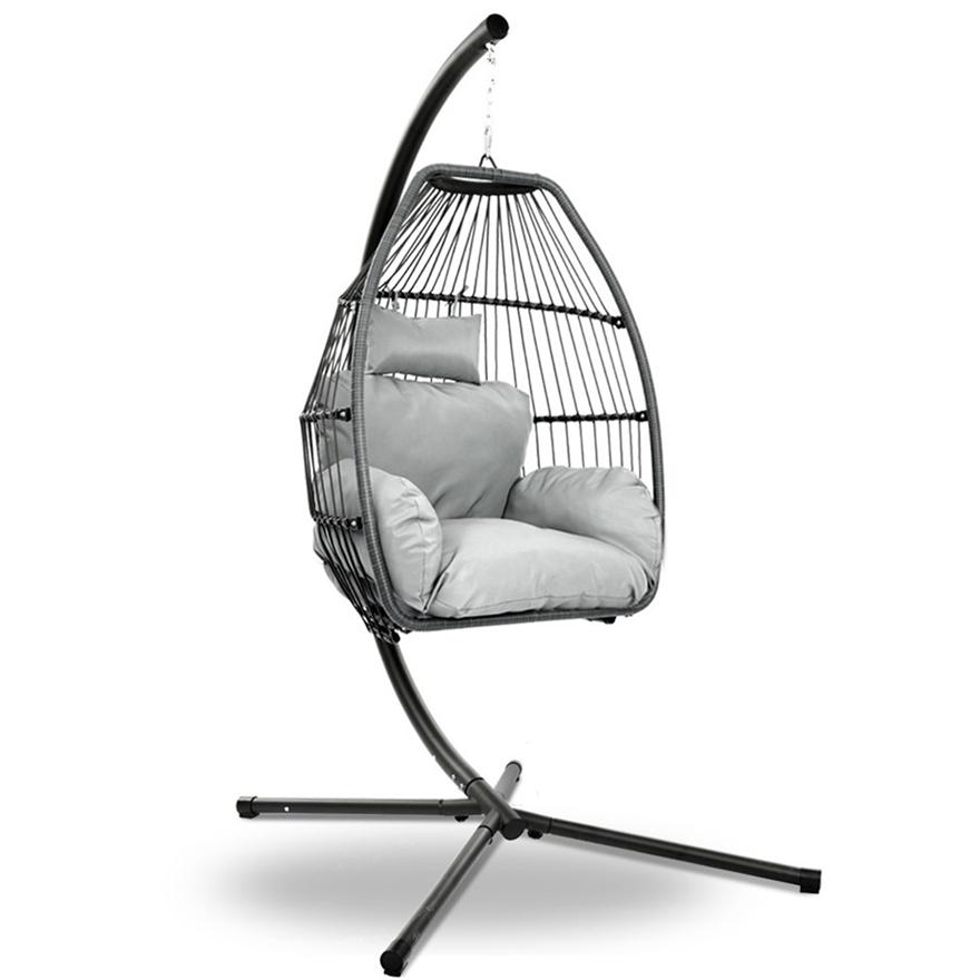 Mid Century Rattan Chair, Buy Gardeon Outdoor Furniture Egg Hammock Hanging Swing Chair Stand Wicker Grey Graysonline Australia