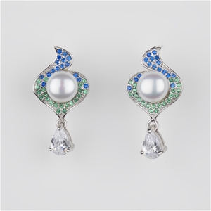 One Pair Of Sterling Silver Freshwater P