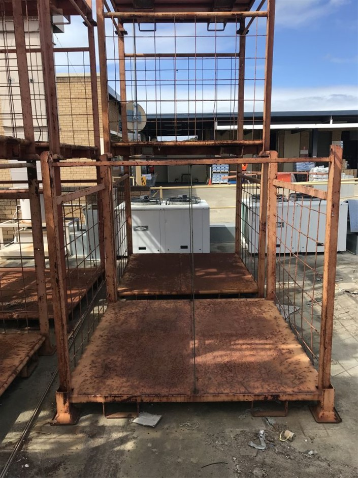 Steel Cage - Approx. Dimensions 1700mm (H) 1750mm (W) 1750mm (L)